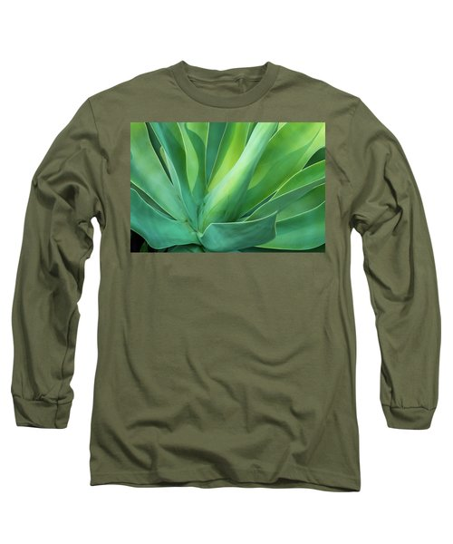 Green Minimalism Long Sleeve T-Shirt