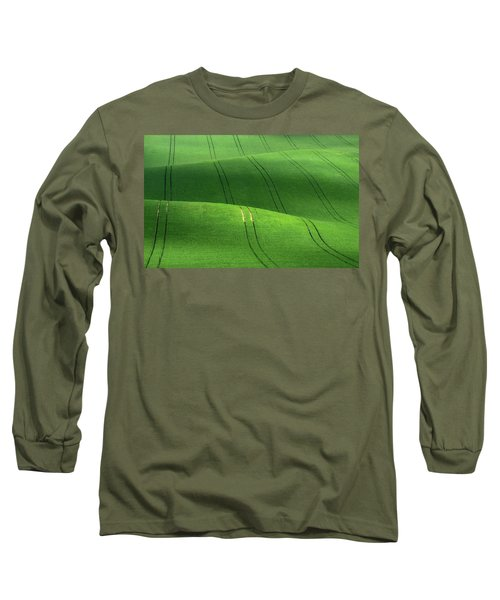 Green Velvet Long Sleeve T-Shirt