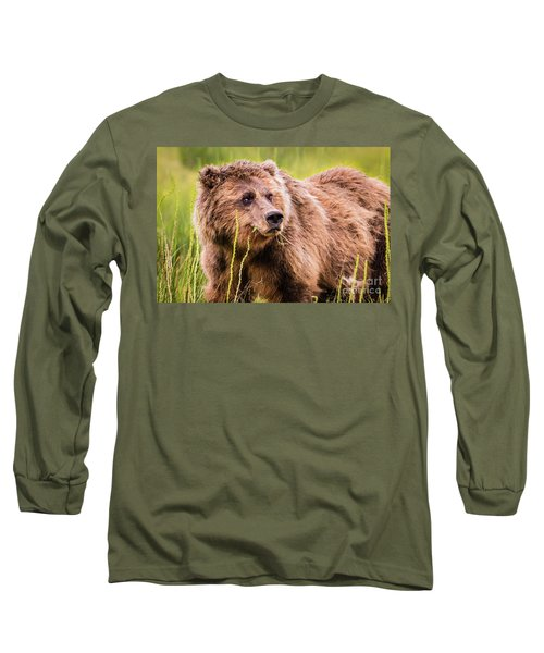 Grizzly In Lake Clark National Park, Alaska Long Sleeve T-Shirt