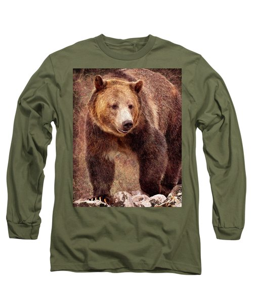 Long Sleeve T-Shirt featuring the photograph Grizzly by Mary Hone