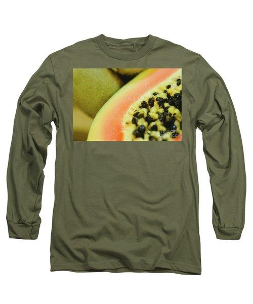 Group Of Fruits Papaya, Grape, Kiwi And Bananas Long Sleeve T-Shirt