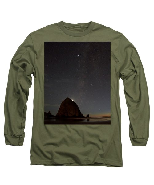 Haystack Night Under The Stars Long Sleeve T-Shirt