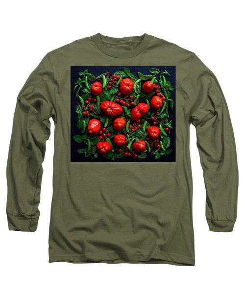 Heirloom Tomatoes And Peas Long Sleeve T-Shirt