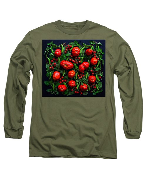 Heirloom Tomatoes And Peas Long Sleeve T-Shirt