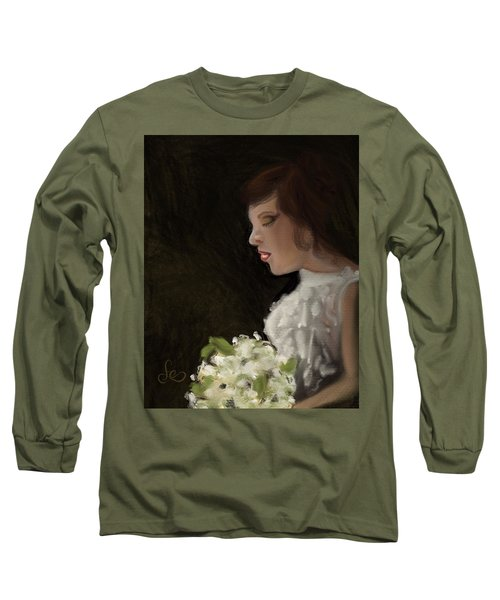 Long Sleeve T-Shirt featuring the painting Her Big Day by Fe Jones