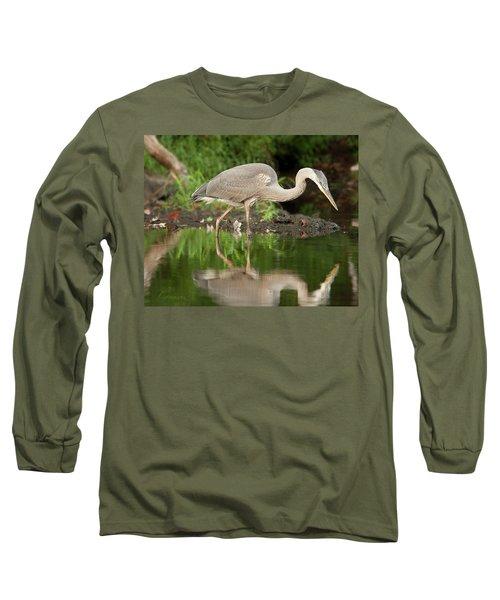 Heron Fishing Long Sleeve T-Shirt