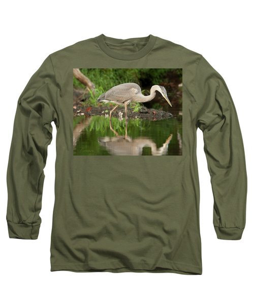 Heron Fishing Long Sleeve T-Shirt