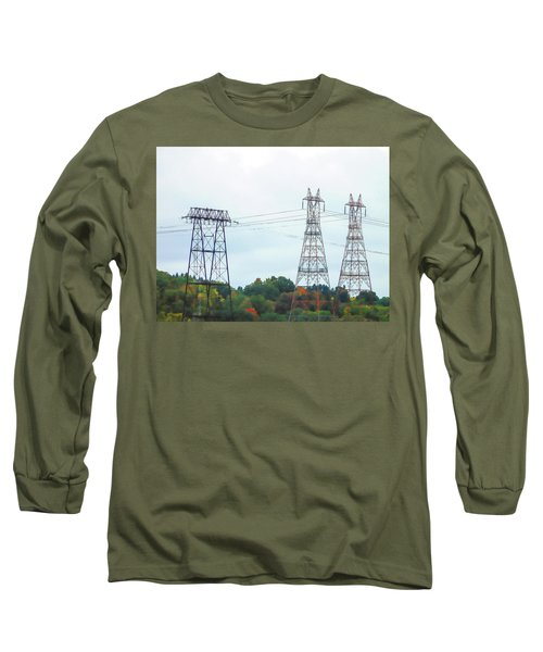 High-voltage Power Transmission Towers  2 Long Sleeve T-Shirt