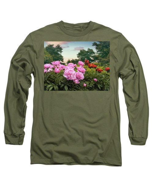 Hillside Peonies Long Sleeve T-Shirt