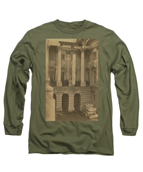 Hoisting Final Marble Column At United States Capitol Long Sleeve T-Shirt