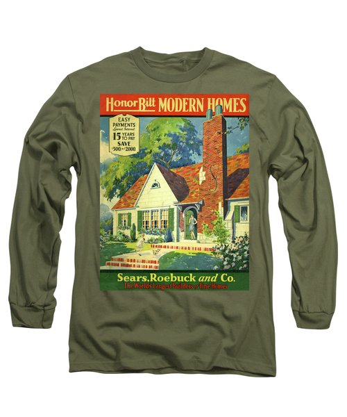 Honor Bilt Modern Homes Sears Roebuck And Co 1930 Long Sleeve T-Shirt