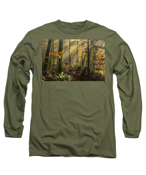Horizontal Rays Of Sun After A Storm Long Sleeve T-Shirt