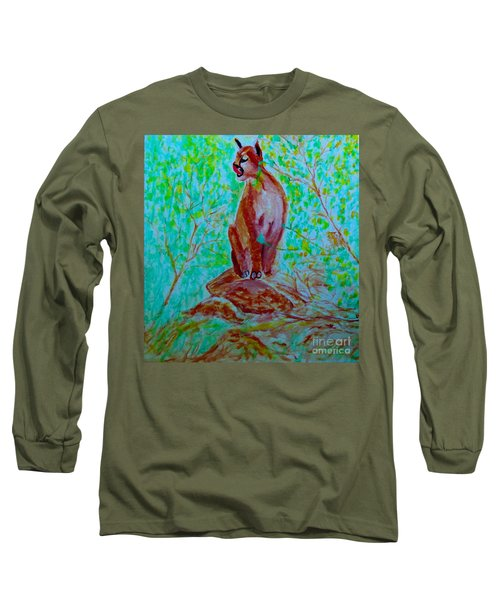 Hungry Mountain Lion Long Sleeve T-Shirt