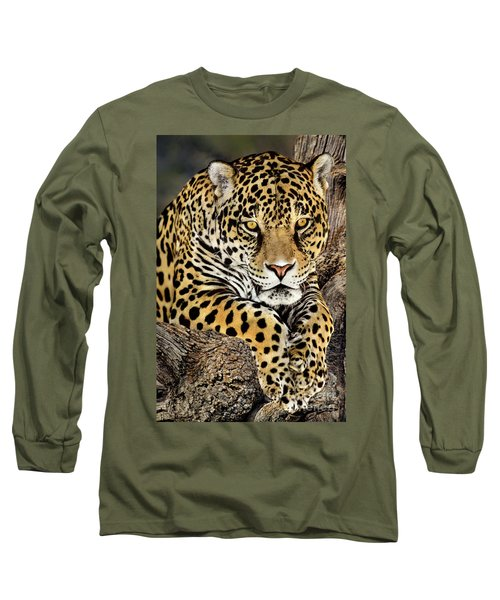 Jaguar Portrait Wildlife Rescue Long Sleeve T-Shirt