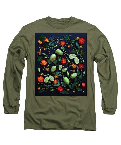 Jamaican Burr Cucumbers Long Sleeve T-Shirt