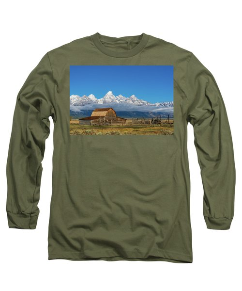 Long Sleeve T-Shirt featuring the photograph John Moulton Barn by Mary Hone