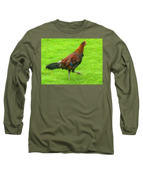 Kauai Rooster Long Sleeve T-Shirt