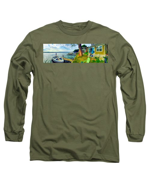 Keuka Lake Mornings Panorama Long Sleeve T-Shirt