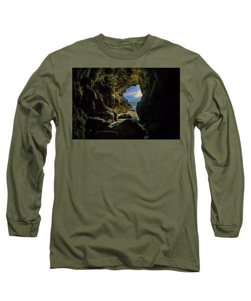 Keyhole Cave In Malibu Long Sleeve T-Shirt