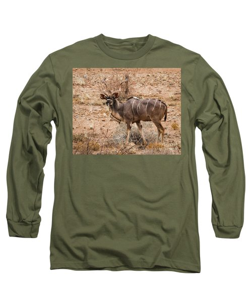 Kudu In The Kalahari Desert, Namibia Long Sleeve T-Shirt