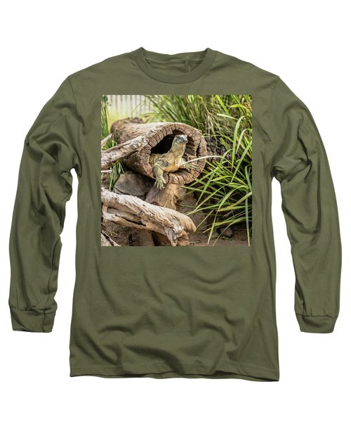 Lace Monitor During The Day. Long Sleeve T-Shirt