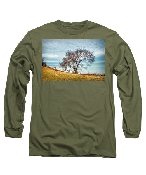 Lakeshore Lonely Tree Long Sleeve T-Shirt