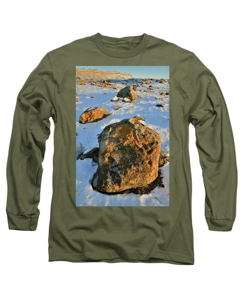 Last Light Of The Day In The Book Cliffs Long Sleeve T-Shirt