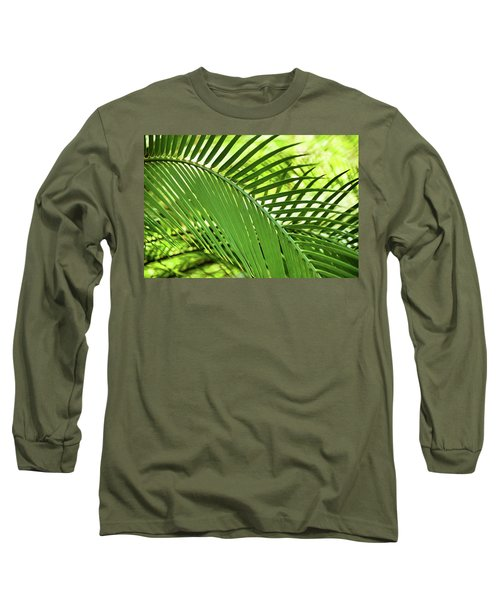Long Sleeve T-Shirt featuring the photograph Leaf Abstraction II by Leda Robertson