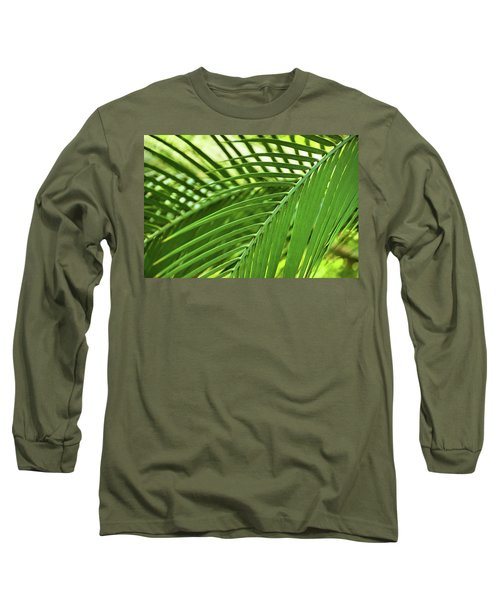 Long Sleeve T-Shirt featuring the photograph Leaf Abstraction IIi by Leda Robertson