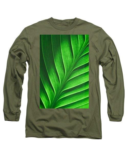 Leaf Pattern Long Sleeve T-Shirt