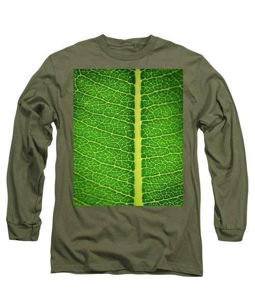 Leafy Detail Long Sleeve T-Shirt