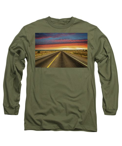 Leaving Lubbock Vanishing Point Long Sleeve T-Shirt