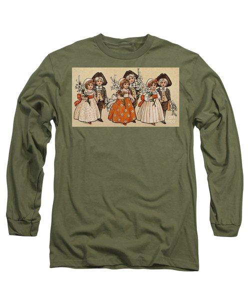 Lilies, Victorian Card Long Sleeve T-Shirt