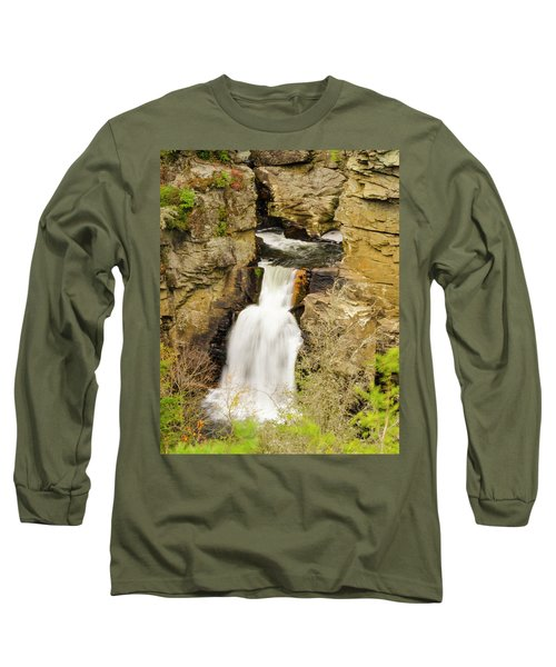 Linville Falls - Closeup Long Sleeve T-Shirt