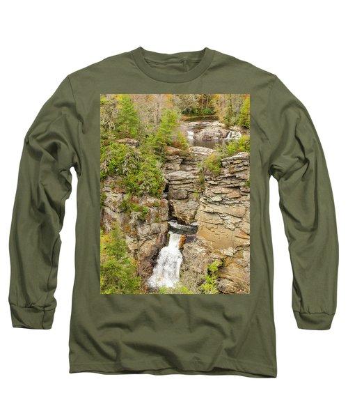 Linville Falls - Vertical Long Sleeve T-Shirt