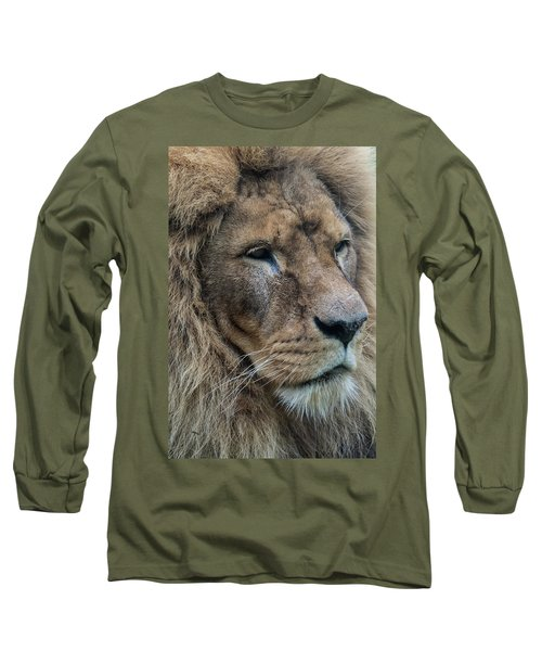 Long Sleeve T-Shirt featuring the photograph Lion by Anjo Ten Kate