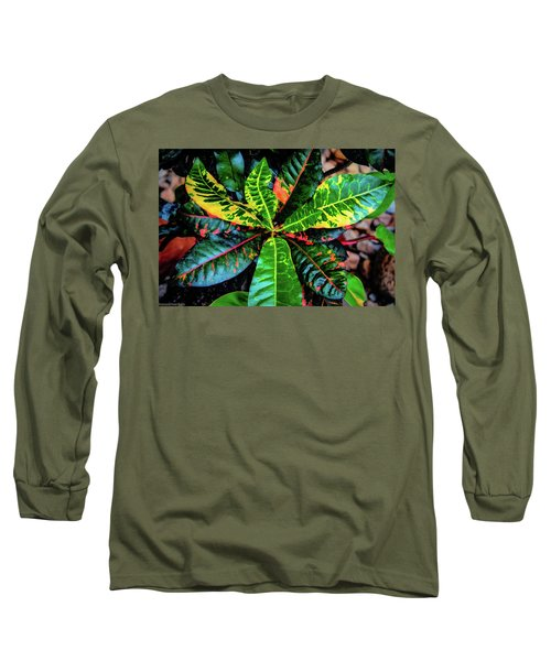 Liquid Tropical Colors Long Sleeve T-Shirt
