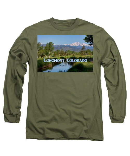 Long Sleeve T-Shirt featuring the photograph Longmont Colorado Twin Peaks View Poster by James BO Insogna