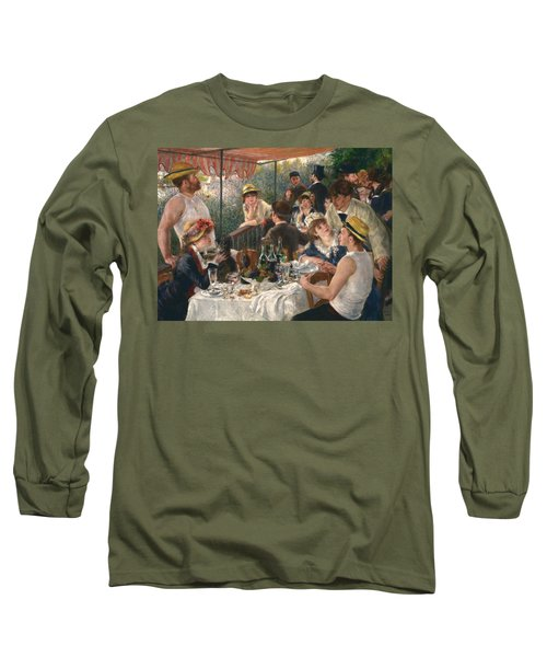 Luncheon Of The Boating Party, 1880-1881 Long Sleeve T-Shirt