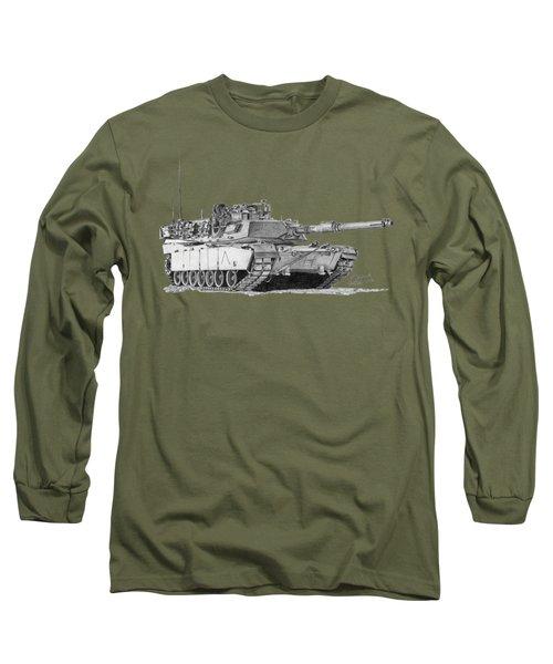M1a1 A Company Commander Tank Long Sleeve T-Shirt