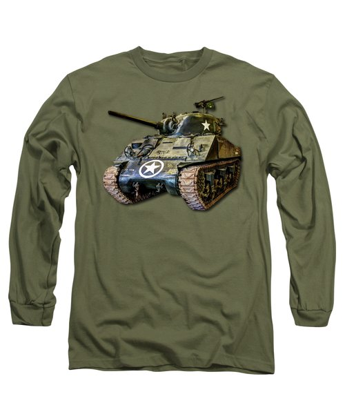 M4 Sherman Map Long Sleeve T-Shirt