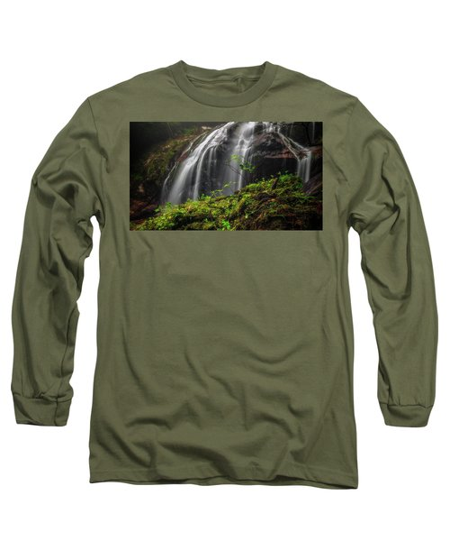 Magical Mystical Mossy Waterfall Long Sleeve T-Shirt