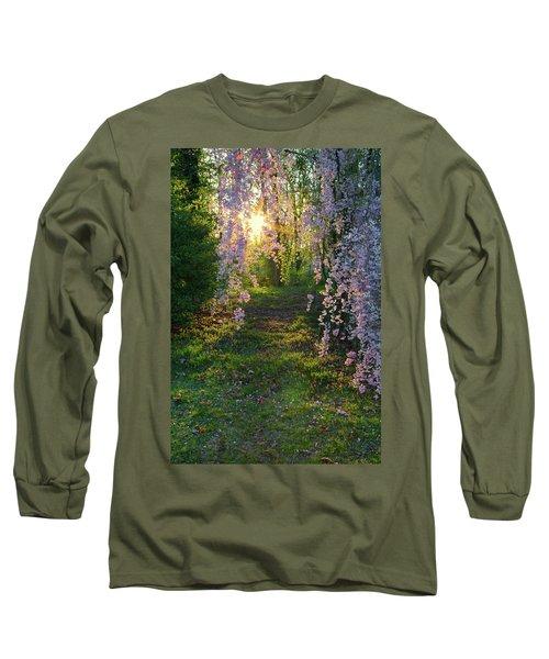 Magnolia Tree Sunset Long Sleeve T-Shirt