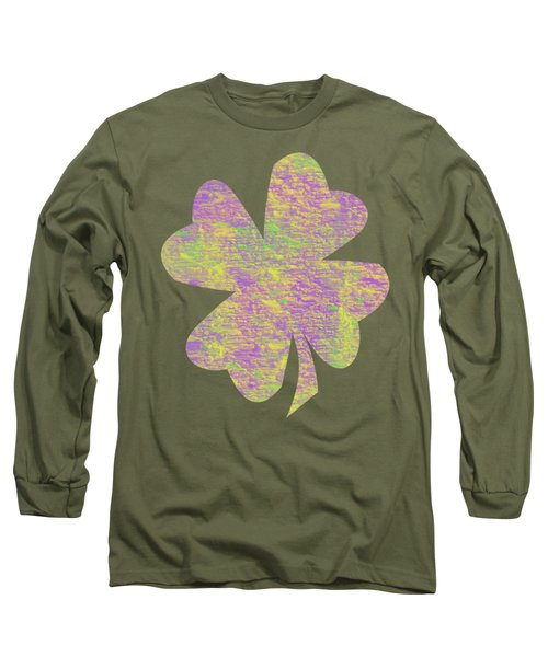 Mardi Gras Shamrock Long Sleeve T-Shirt