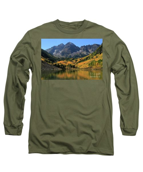 Maroon Bells In Fall Long Sleeve T-Shirt
