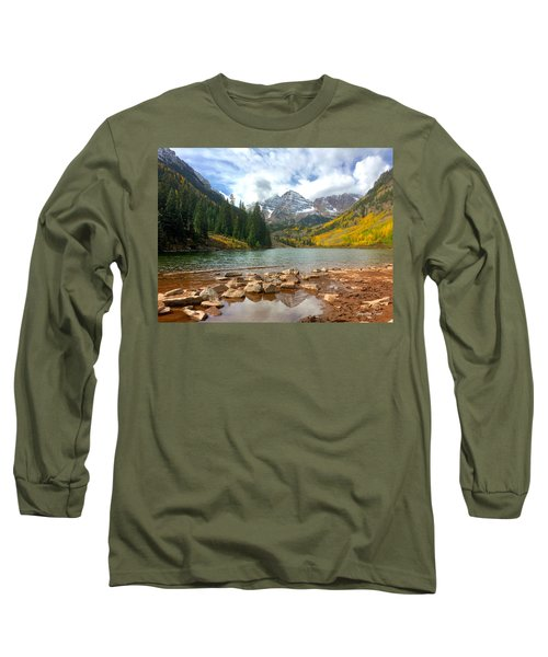 Long Sleeve T-Shirt featuring the photograph Maroon Bells by Jacqueline Faust