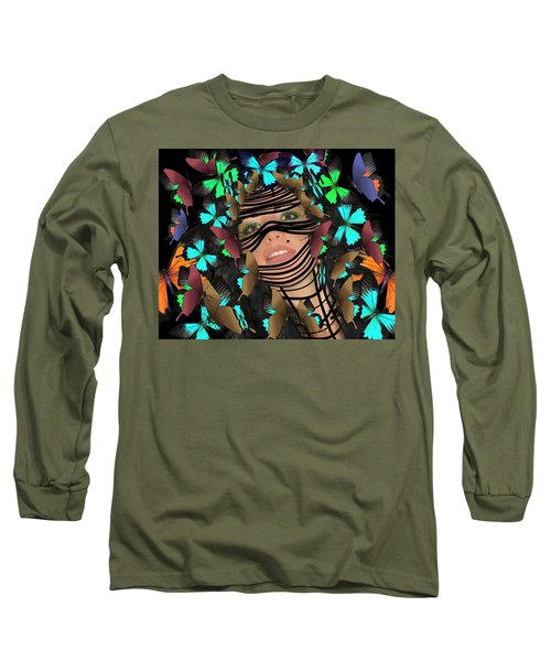 Mask Of Butterflies And Bondage Long Sleeve T-Shirt