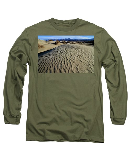 Mesquite Flat Sand Dunes Grapevine Mountains Long Sleeve T-Shirt