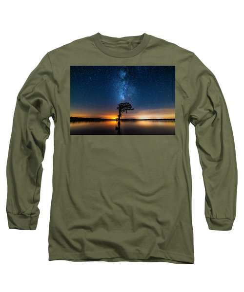 Long Sleeve T-Shirt featuring the photograph Milky Way Swamp by Andy Crawford