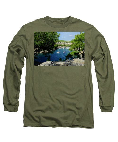 Long Sleeve T-Shirt featuring the photograph Miou Marina by August Timmermans